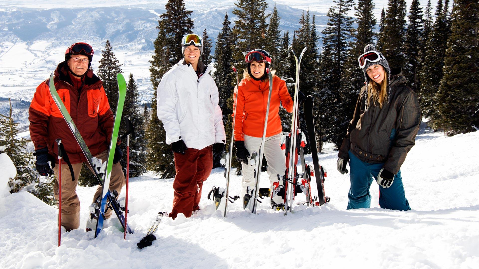 Urban Sherpa Travel - Four Skiers,
